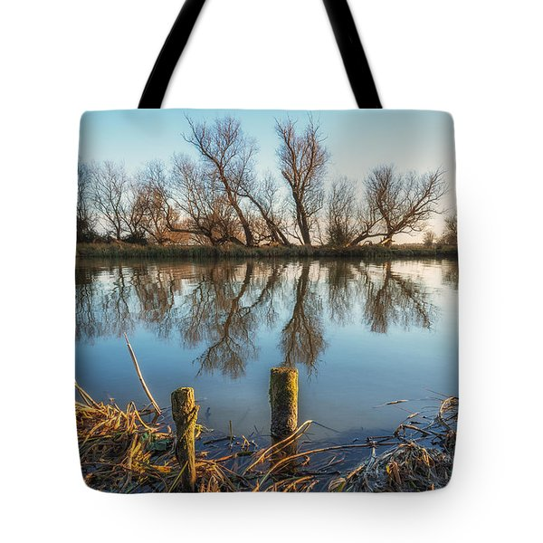 Tote Bag featuring the photograph Riverside Trees by James Billings
