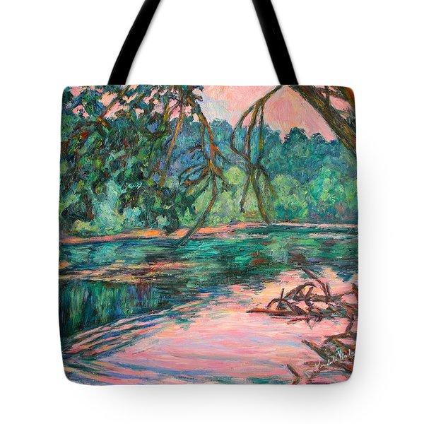 Riverview At Dusk Tote Bag