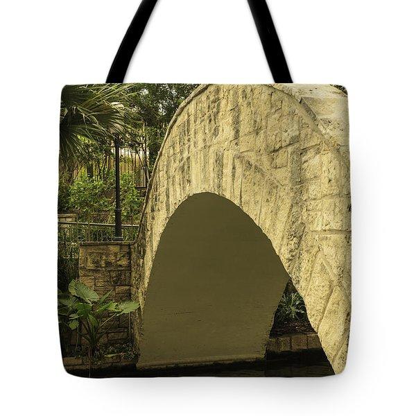 Riverwalk Footbridge Tote Bag by Anne Witmer