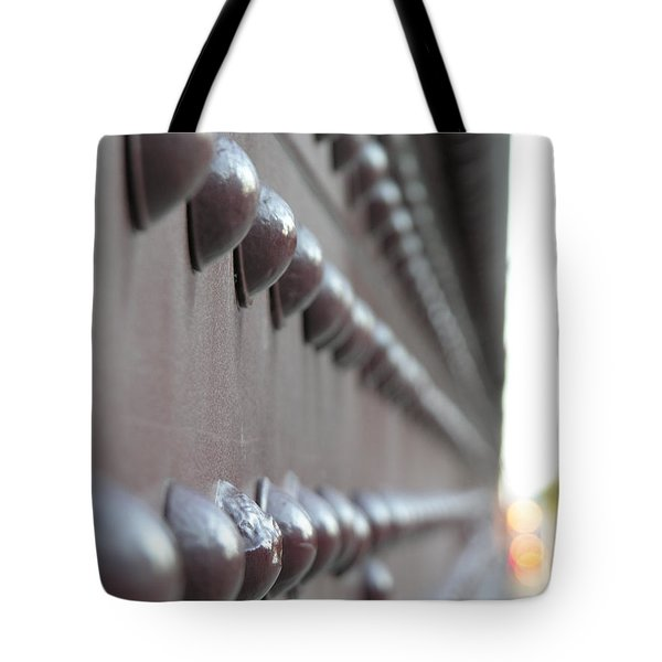 Rivets Tote Bag by Diane Greco-Lesser