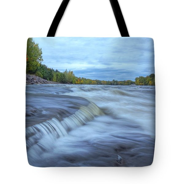 Riviere Des Prairies Panorama Tote Bag by Mircea Costina Photography