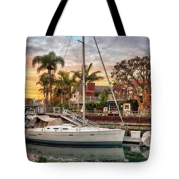 Rivo Alto Canal And Naples Canals Tote Bag