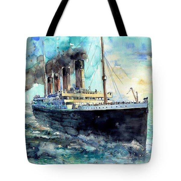 Rms Titanic White Star Line Ship Tote Bag