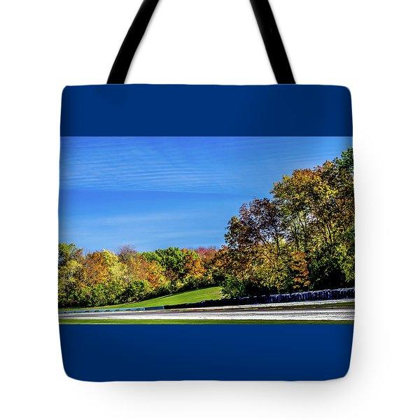Road America In The Fall Tote Bag