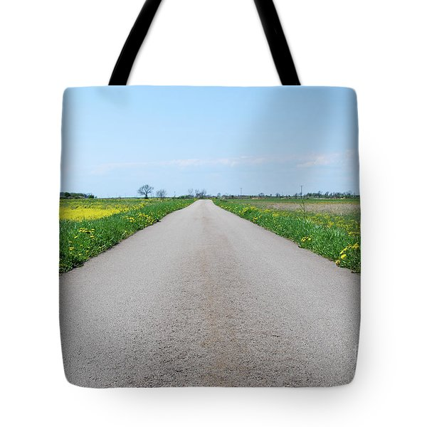 Tote Bag featuring the photograph Road In A Rural At Spring Landscape by Kennerth and Birgitta Kullman