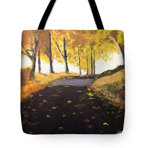 Road In Autumn Tote Bag