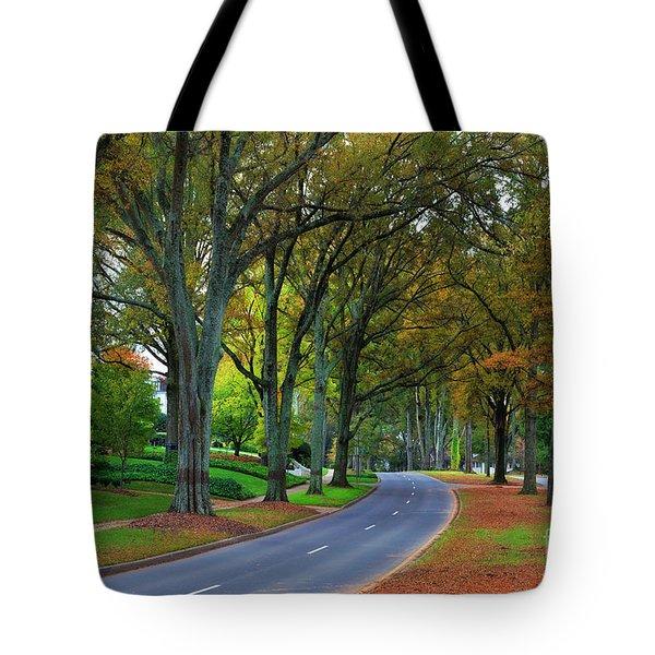 Road In Charlotte Tote Bag