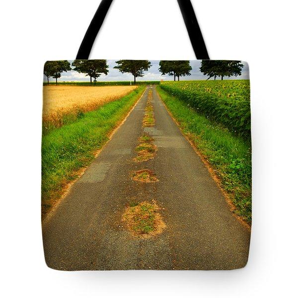 Road In Rural France Tote Bag by Elena Elisseeva