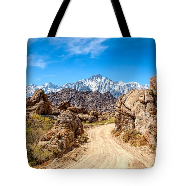 Road In The Alabama Hills Tote Bag