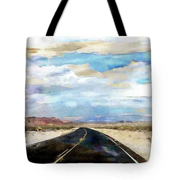 Road In The Desert Tote Bag