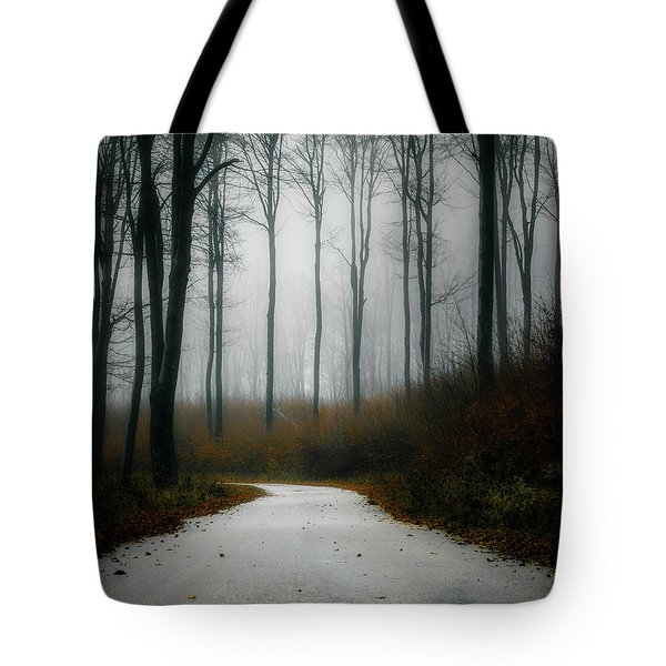 Road In The Fog 07/11/17 Tote Bag