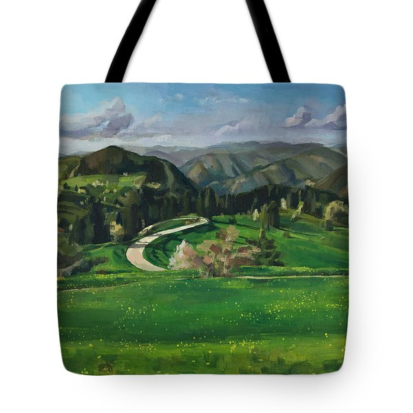 Road In The Mountains Tote Bag
