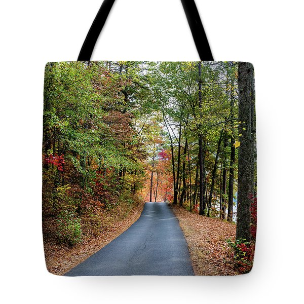 Road In The Woods Tote Bag