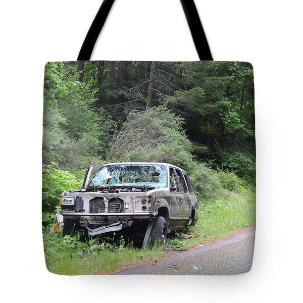 Tote Bag featuring the photograph Road Kill by Marie Neder
