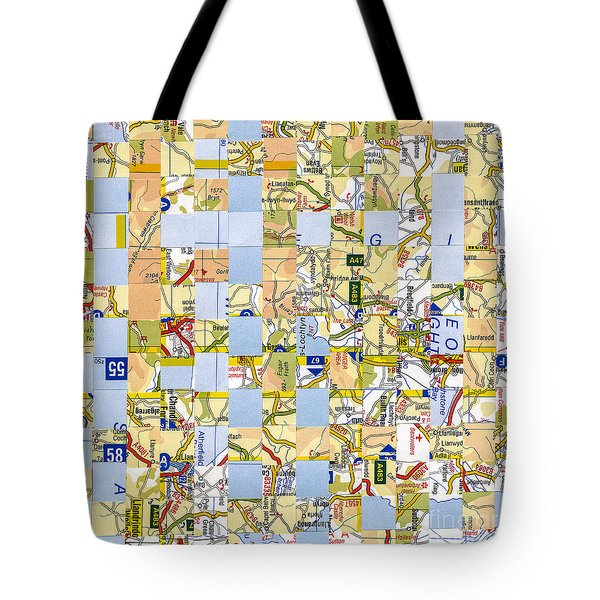 Tote Bag featuring the mixed media Road Map by Jan Bickerton