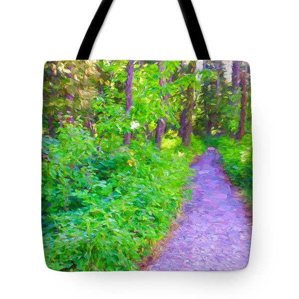 Road More Traveled Tote Bag by Susan Crossman Buscho
