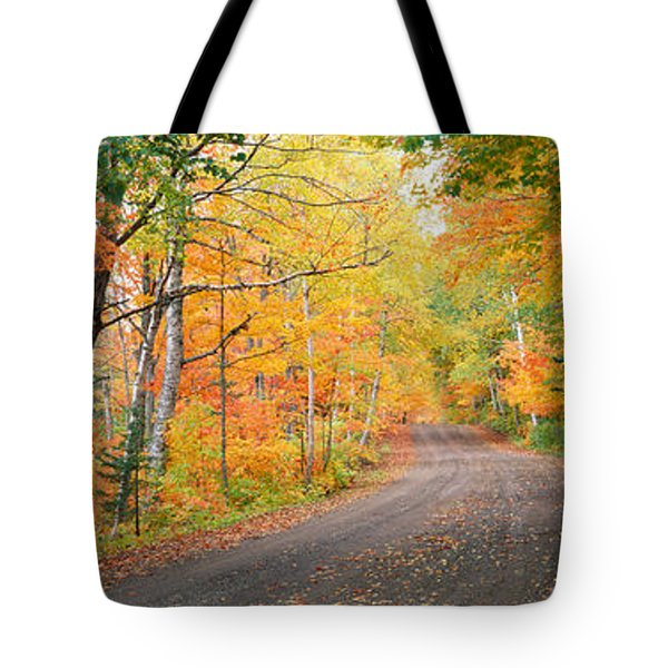 Road Passing Through A Forest, Keweenaw Tote Bag