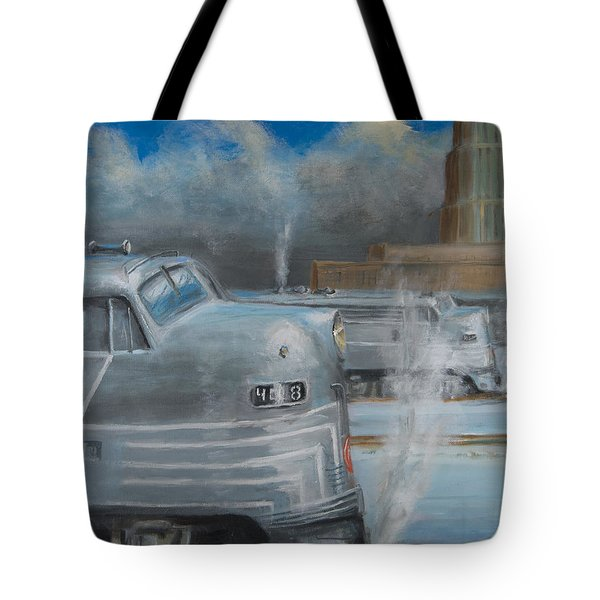 Road Power At Buffalo Tote Bag by Christopher Jenkins