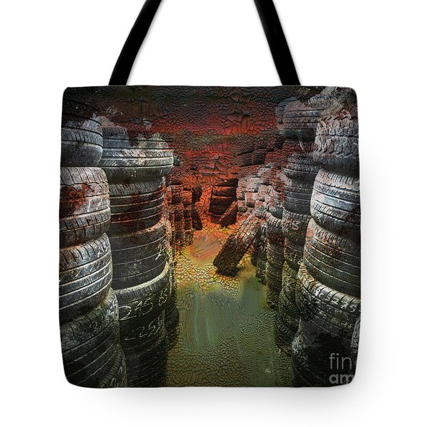 Road Rash Tote Bag