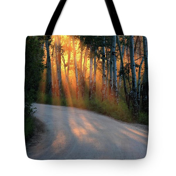 Tote Bag featuring the photograph Road Rays by Shane Bechler