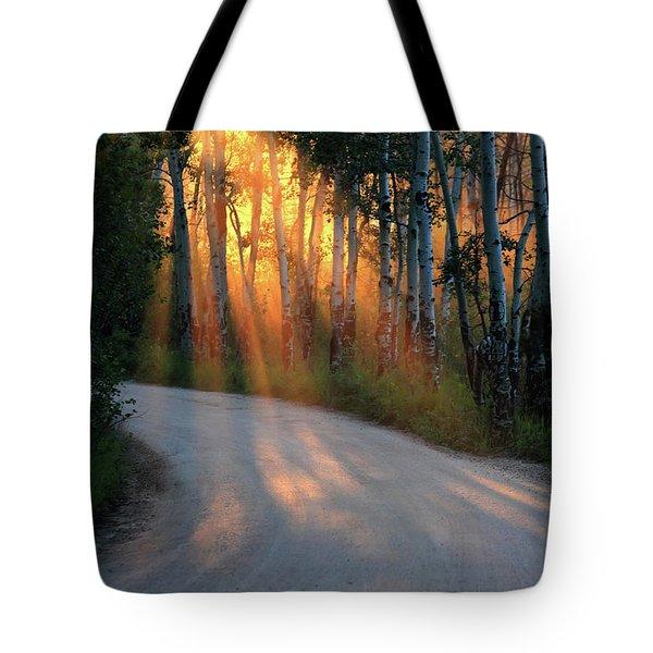 Road Rays Tote Bag