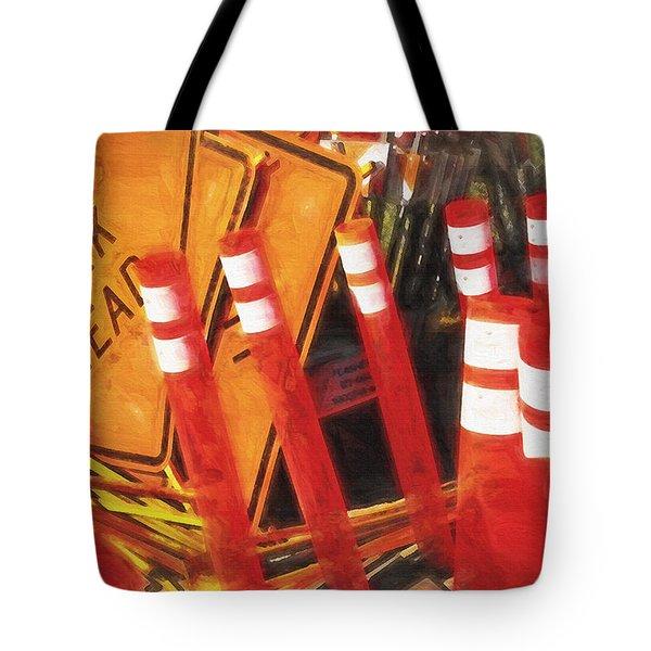 Road Signs Still Life Tote Bag