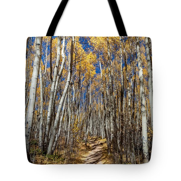 Road Through Aspens Tote Bag