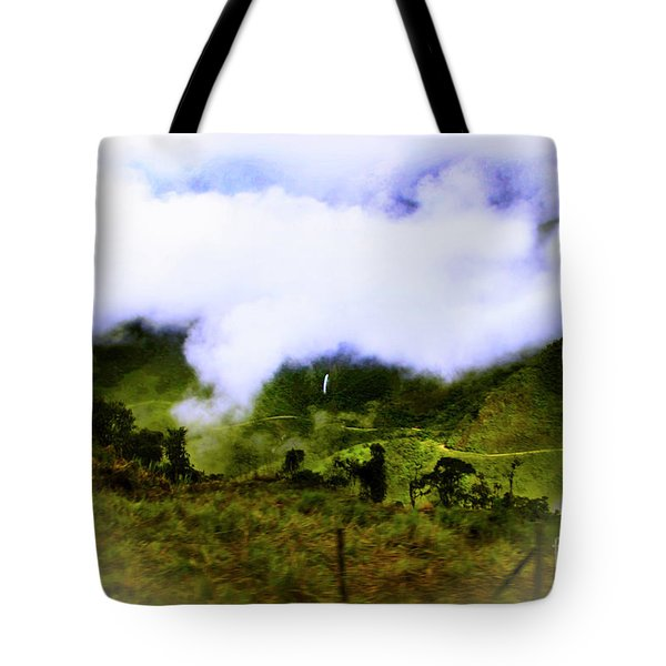 Tote Bag featuring the photograph Road Through The Andes by Al Bourassa