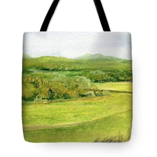 Road Through Vermont Field Tote Bag