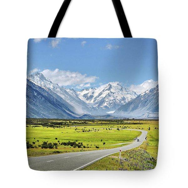 Road To Aoraki Tote Bag