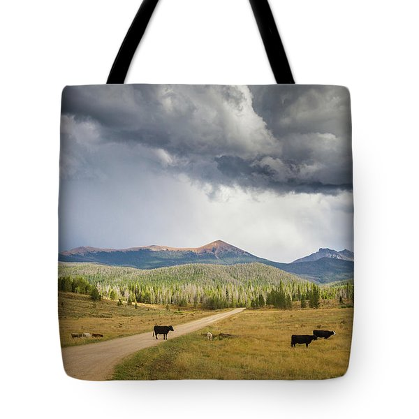 Road To Colorado  Tote Bag
