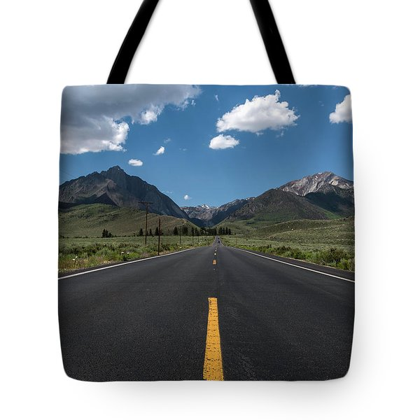 Road To Convict Lake Tote Bag by Scott Cunningham
