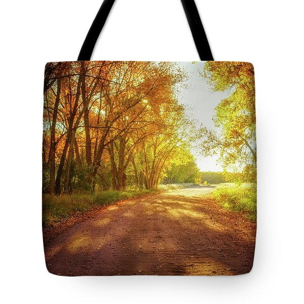 Tote Bag featuring the photograph Road To Eternity by John De Bord