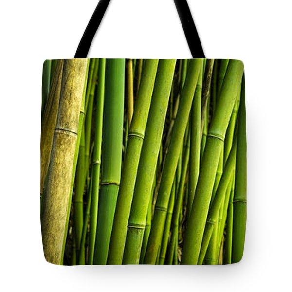 Road To Hana Bamboo Panorama - Maui Hawaii Tote Bag