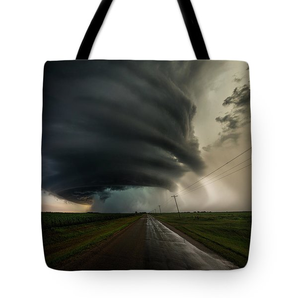 Tote Bag featuring the photograph Road To Mesocyclone by Aaron J Groen