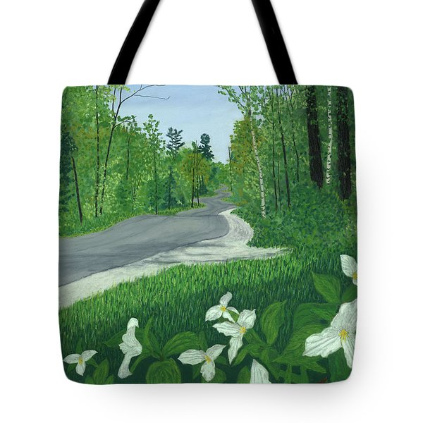 Road To Northport - Spring Tote Bag