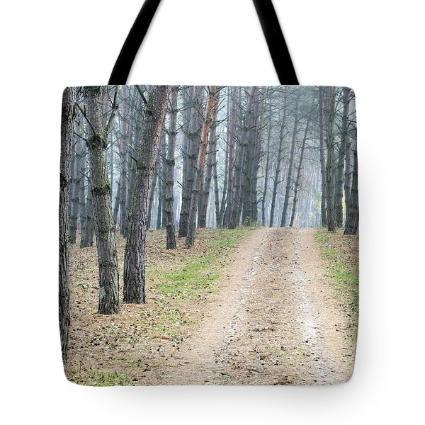 Road To Pine Forest Tote Bag