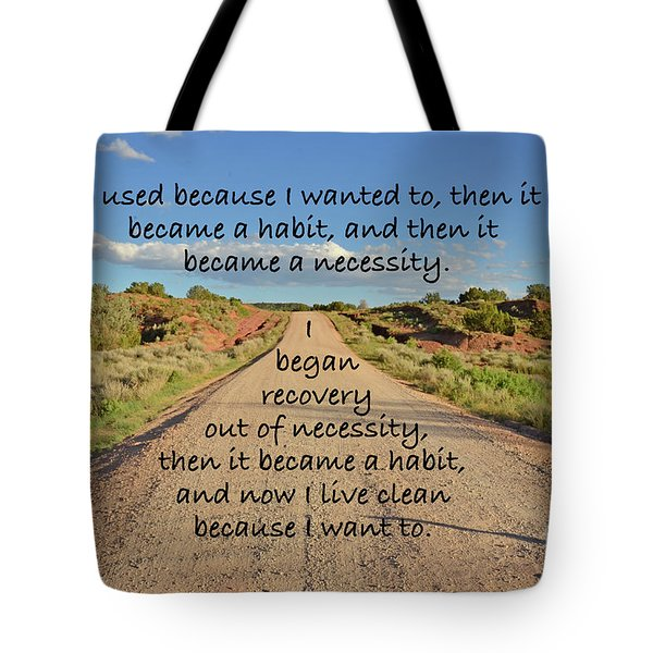 Road To Recovery Tote Bag