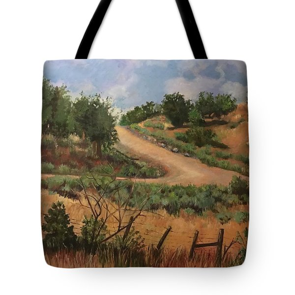 Road To Santa Fe  Tote Bag