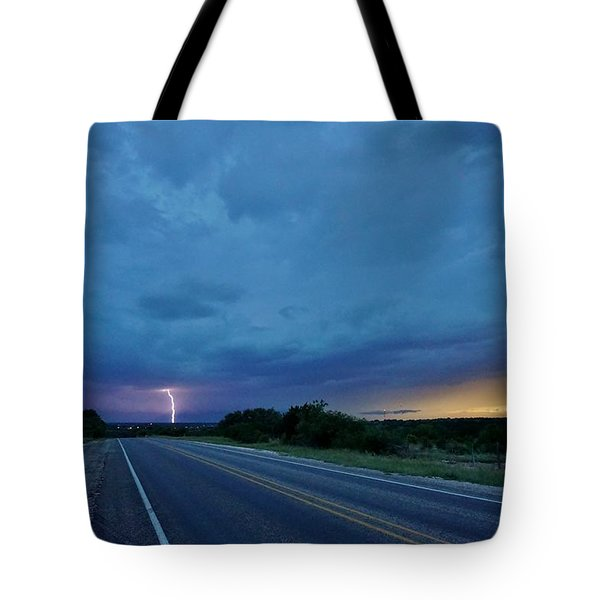 Lightning Over Sonora Tote Bag