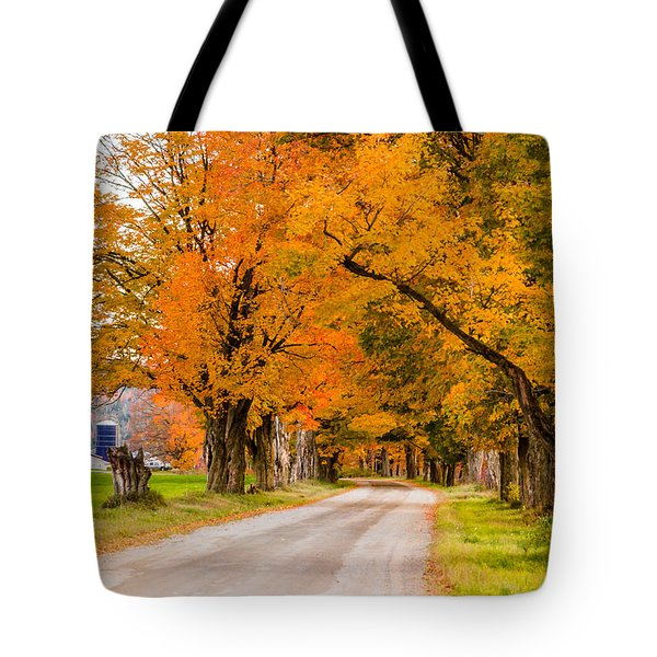 Road To The Farm Tote Bag by Tim Kirchoff