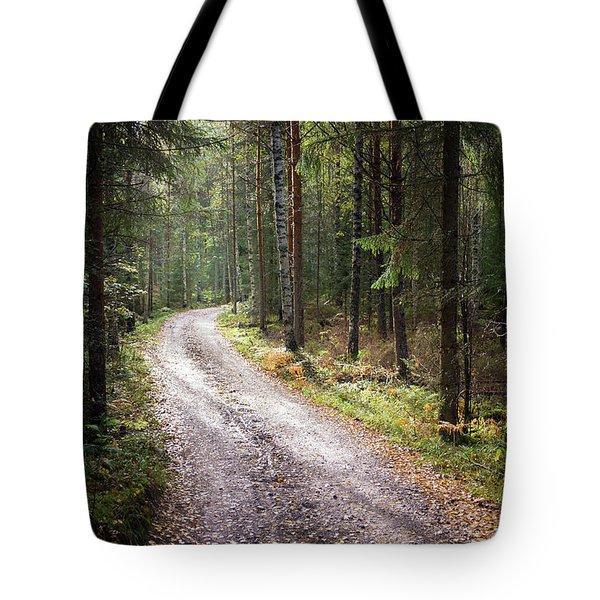 Road To The Light Tote Bag by Teemu Tretjakov