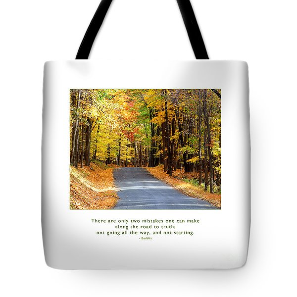 Tote Bag featuring the photograph Road To Truth by Kristen Fox