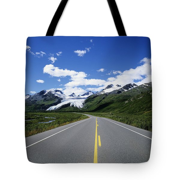Road To Worthington Glacier Tote Bag by Bill Bachmann - Printscapes
