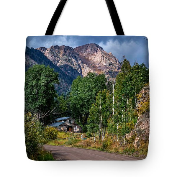 Road Towards Cinnamon Pass Tote Bag