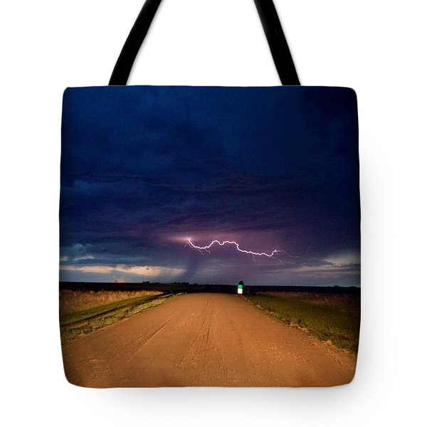 Road Under The Storm Tote Bag by Ed Sweeney
