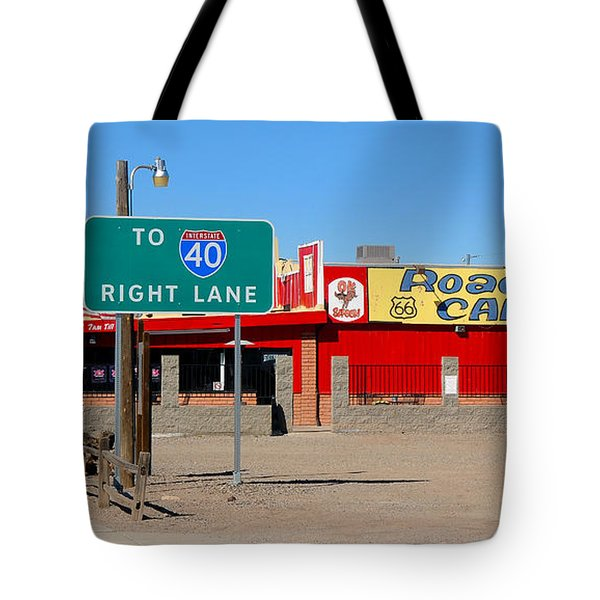 Roadkill Cafe, Route 66, Seligman Arizona Tote Bag