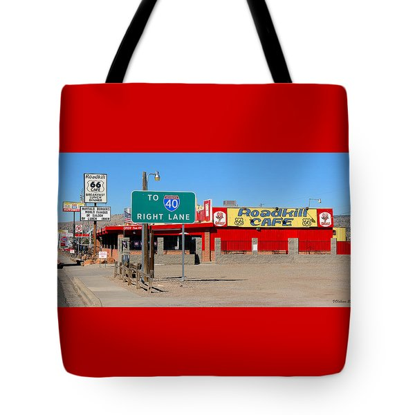 Roadkill Cafe, Route 66, Seligman Arizona Tote Bag