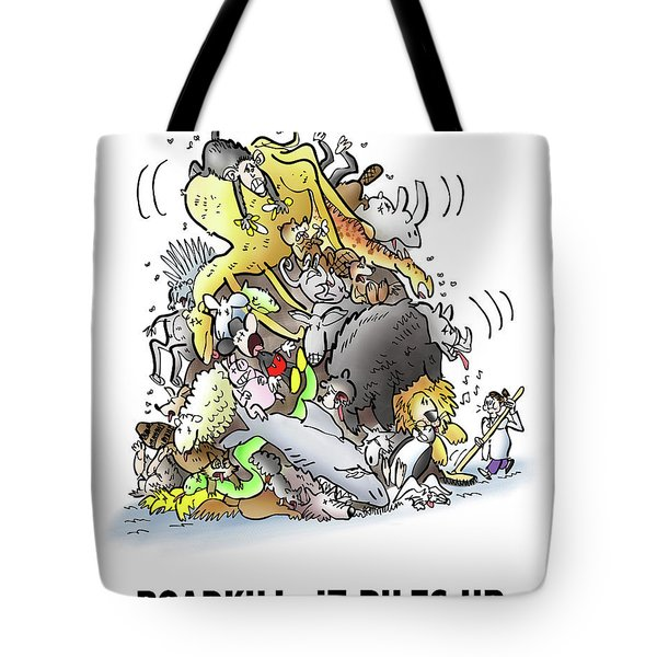 Tote Bag featuring the digital art Roadkill by Mark Armstrong