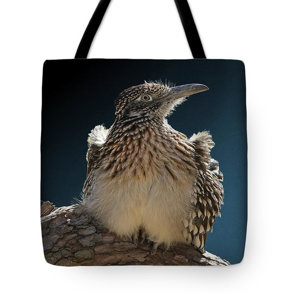 Roadrunner On A Log Tote Bag